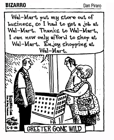 A common problem is blaming Walmart for your business failing.  Blame the government.