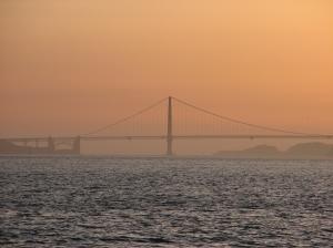 A cool picure of my favorite bridge, the Golden Gate Bridge