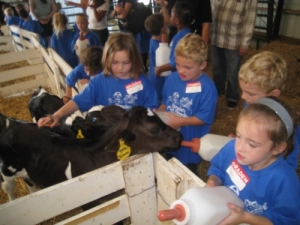 Shatto Milk Company welcomes young visitors to their farm. Lessons like that stick too!