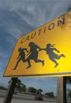 Immigrant-crossing sign