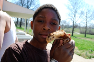 Drumm Farm, in Independence, Mo., now has baby chickens, much to the children's delight.