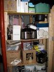 Scrapile storage shelf