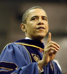 Obama at Notre Dame commencement
